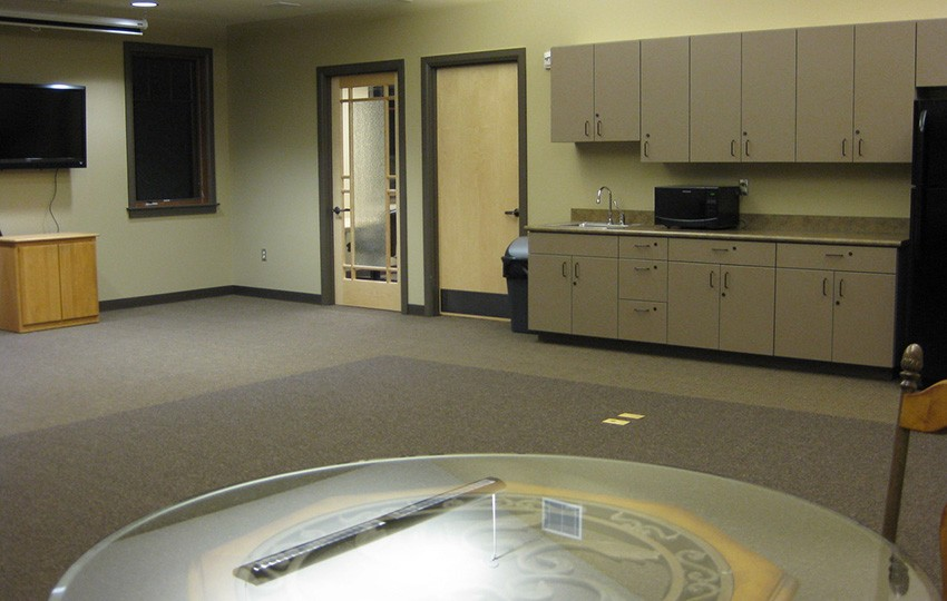 Kitchenette area in conference room